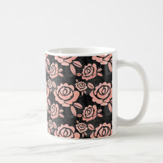 Pink Roses ona a Black Backround Coffee Mug