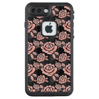 Pink Roses ona a Black Backround LifeProof FRĒ iPhone 7 Plus Case