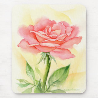 Pink Roses Painting Art - Multi Mouse Pads