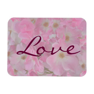 Pink Roses Painting Love Flexible Magnet