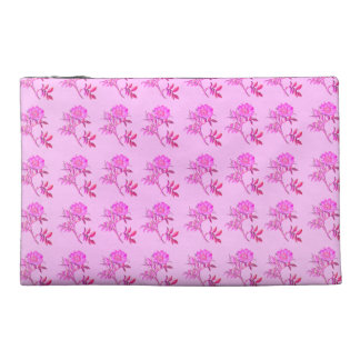 Pink Roses pattern Travel Accessory Bag