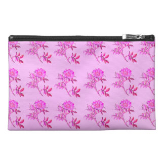 Pink Roses pattern Travel Accessory Bags