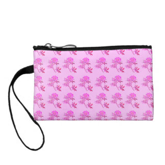 Pink Roses pattern Change Purses