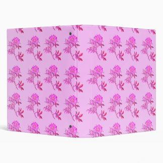 Pink Roses pattern Vinyl Binder