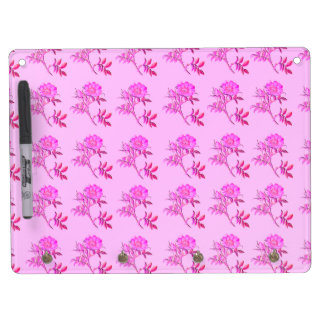 Pink Roses pattern Dry Erase Whiteboards