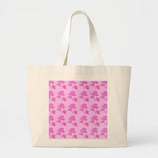 Pink Roses pattern Large Tote Bag