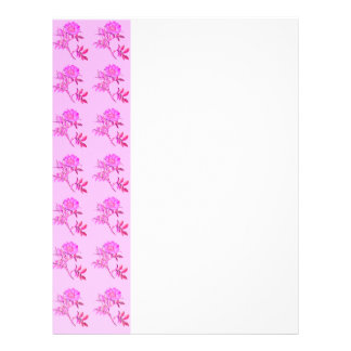 Pink Roses pattern Customized Letterhead