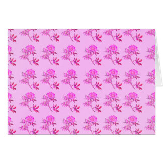 Pink Roses pattern Stationery Note Card