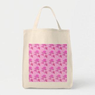 Pink Roses pattern Tote Bag