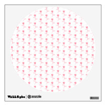 Pink Roses Pattern. Wall Sticker