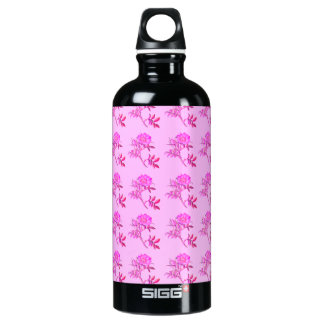 Pink Roses pattern Water Bottle