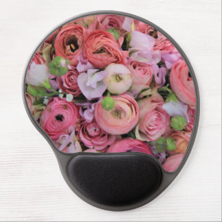 pink roses & peonies by Therosegarden Gel Mouse Pad