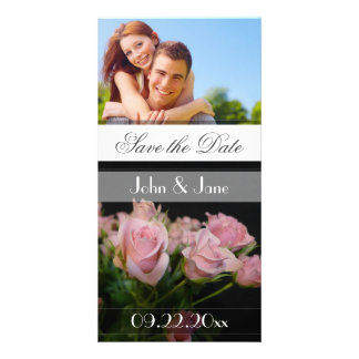 """Pink Roses  /photo  """"Save the Date"""" Photo Card"""