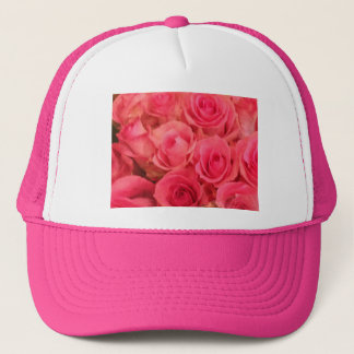 Pink Roses Photo Trucker Hat
