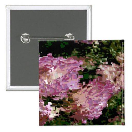 Pink Roses Pinback Button