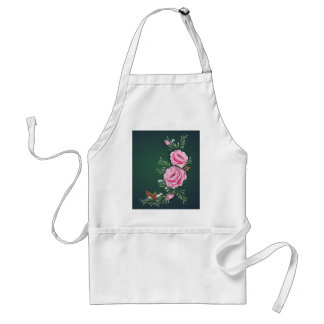 PINK ROSES PINE CONES by SHARON SHARPE Aprons