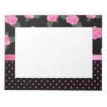 Pink Roses & Polka Dots Memo Note Pad