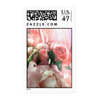Pink Roses Postage