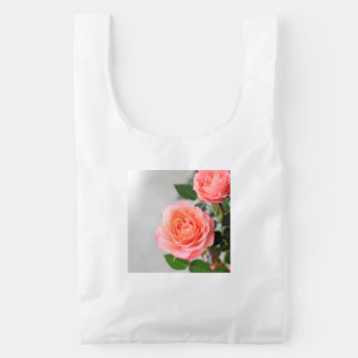 Pink Roses Reusable Bag
