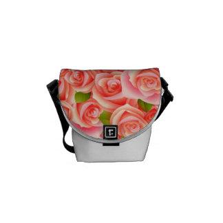 Pink Roses Rickshaw Mini Zero Messenger Bag