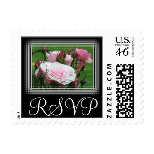 Pink Roses RSVP Stamps