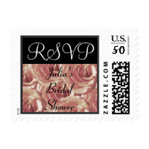 Pink Roses RSVP Stamp