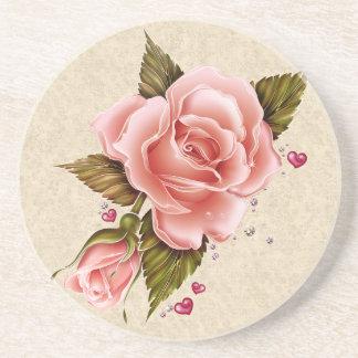 Pink Roses Sandstone Coaster
