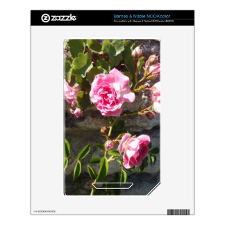 Pink Roses Decals For NOOK Color