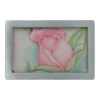 Pink Roses Soft Romantic Watercolor Girly Pretty Belt Buckles