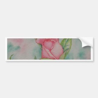 Pink Roses Soft Romantic Watercolor Girly Pretty Bumper Sticker