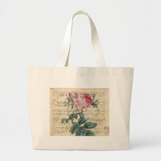 Pink Roses Song Large Tote Bag