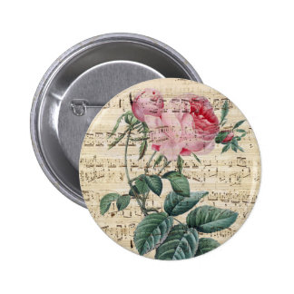 Pink Roses Song Pinback Button