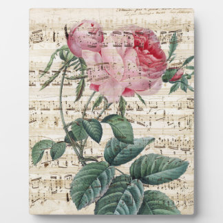 Pink Roses Song Plaque
