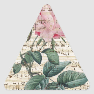 Pink Roses Song Triangle Sticker