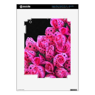 Pink Roses Stars iPad 3 Decals