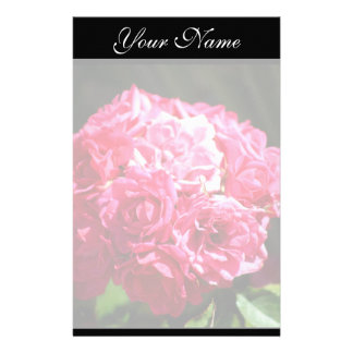 Pink Roses Stationary Stationery