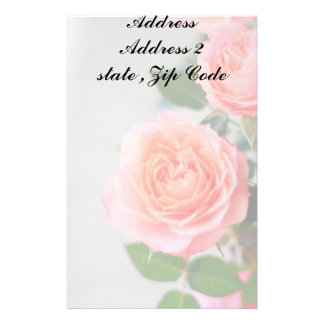 Pink Roses Stationery