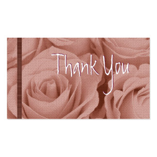 PINK Roses Thank You Wedding Card Business Cards