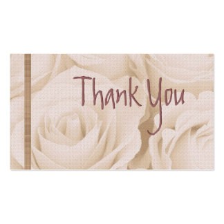 PINK Roses Thank You Wedding Card Business Card Template