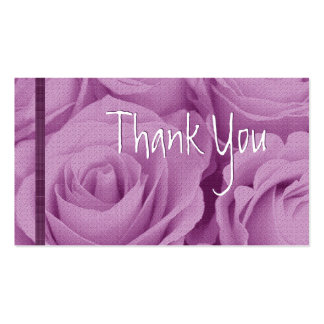 PINK Roses Thank You Wedding Card Business Card Templates