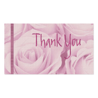 PINK Roses Thank You Wedding Card Business Card