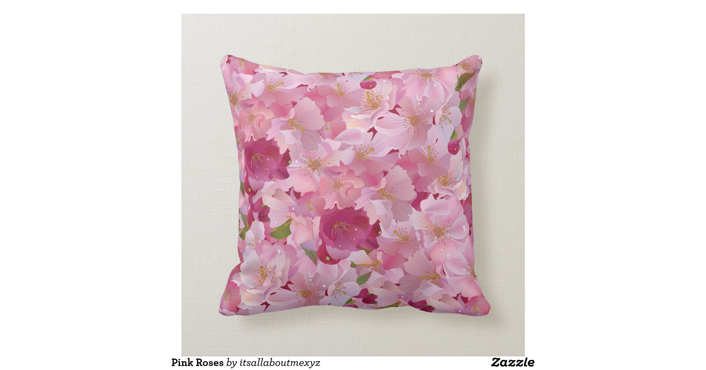 Pink Roses Throw Pillows Zazzle