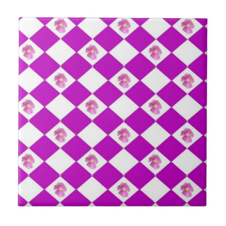 Pink Roses Small Square Tile