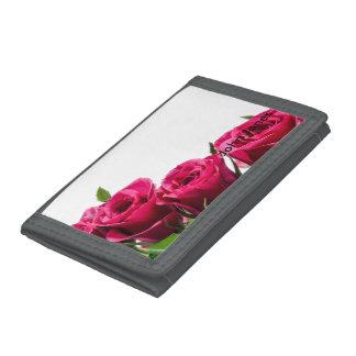 Pink Roses Tri-fold Wallet