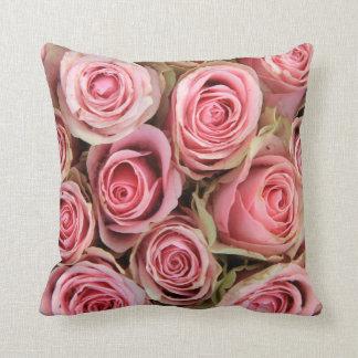 Pink roses  trow pillow