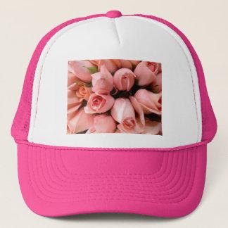 Pink roses trucker hat