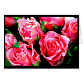 Pink Roses Valentine's Day Card