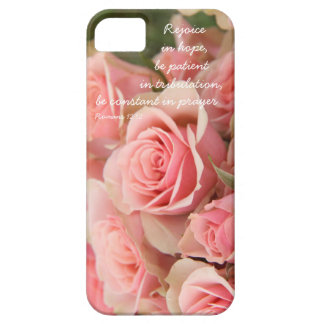 Pink Roses verse on hope prayer Romans 12 12 iPhone 5/5S Covers