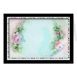 Pink Roses Victorian Style Design Greeting Cards