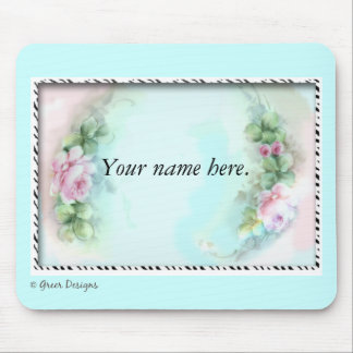 Pink Roses Victorian Style Design Mouse Pad